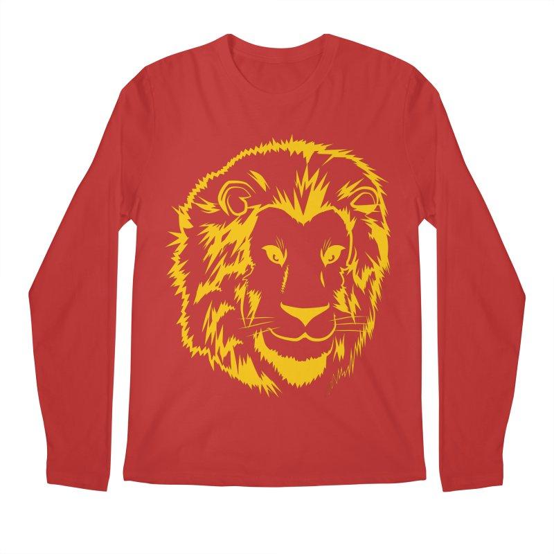 Yellow lion Men's Regular Longsleeve T-Shirt by Synner Design