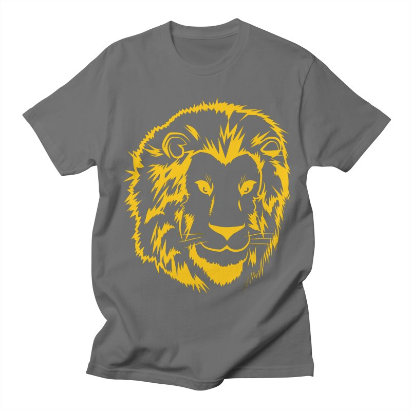 Yellow lion Men's Regular T-Shirt by Synner Design