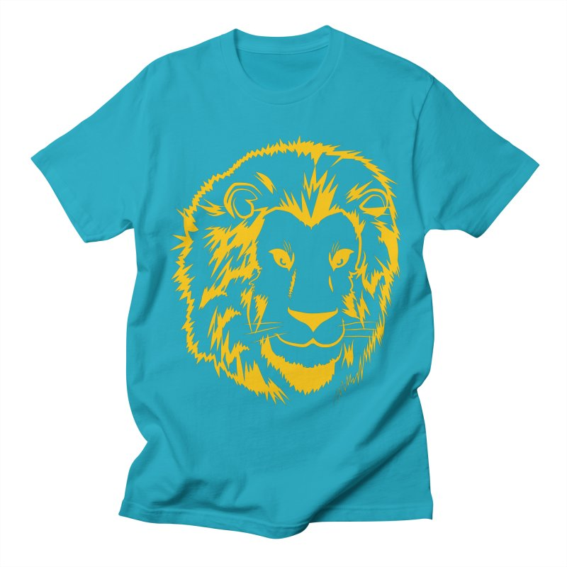 Yellow lion Women's Regular Unisex T-Shirt by Synner Design