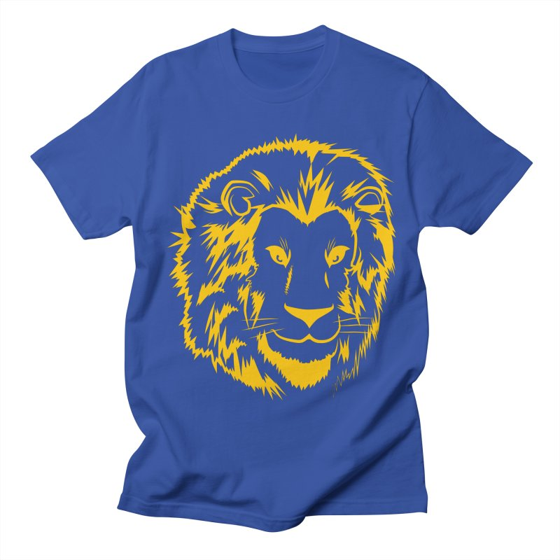 Yellow lion Women's Regular Unisex T-Shirt by Synner Design