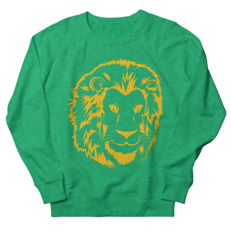 Yellow lion Women's Sweatshirt by Synner Design