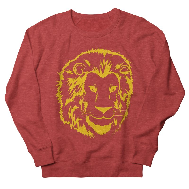 Yellow lion Women's French Terry Sweatshirt by Synner Design