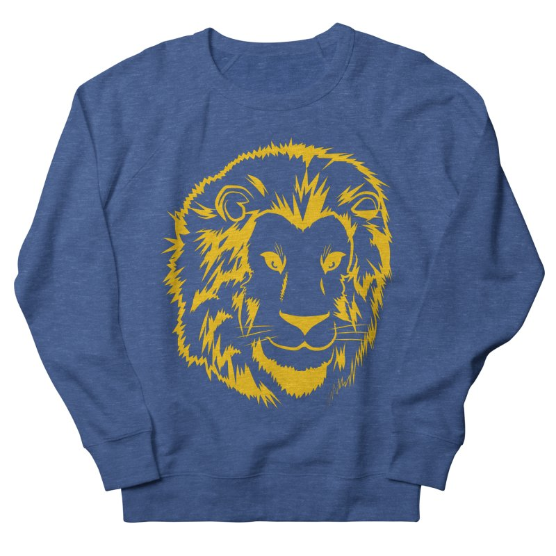 Yellow lion Men's French Terry Sweatshirt by Synner Design