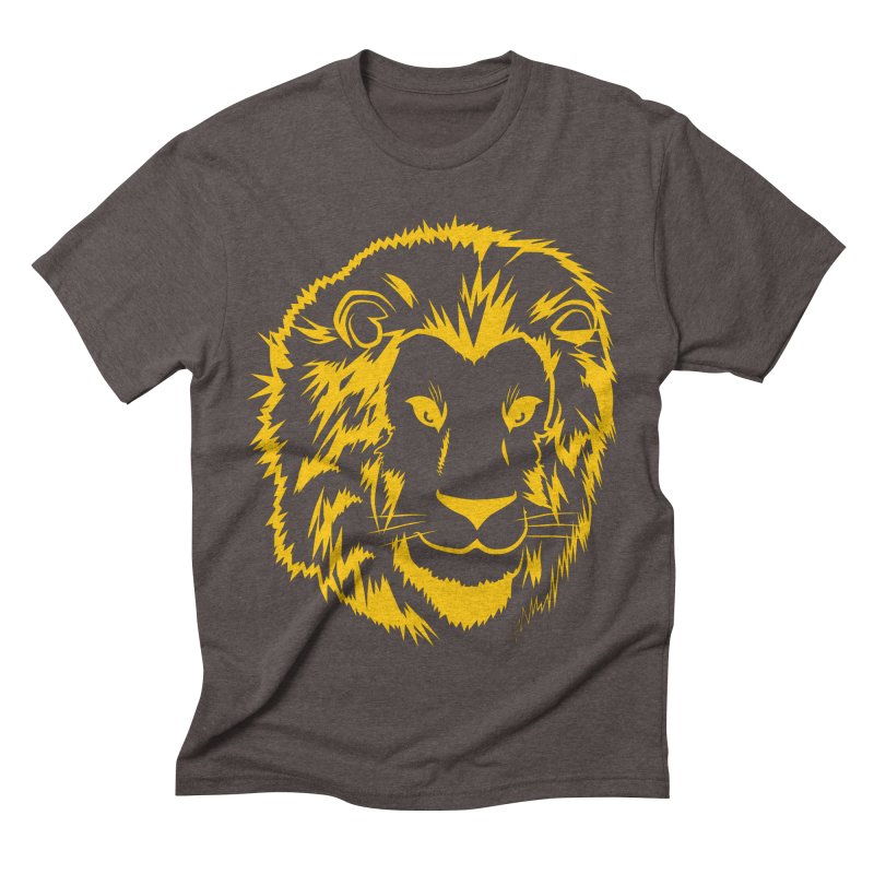 Yellow lion Men's Triblend T-Shirt by Synner Design