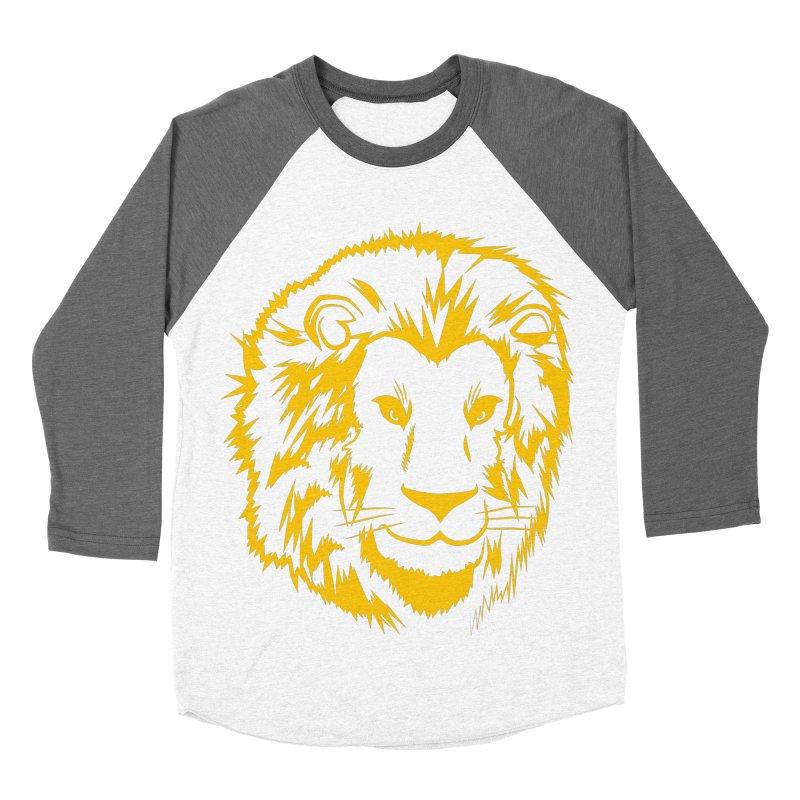 Yellow lion Men's Baseball Triblend Longsleeve T-Shirt by Synner Design