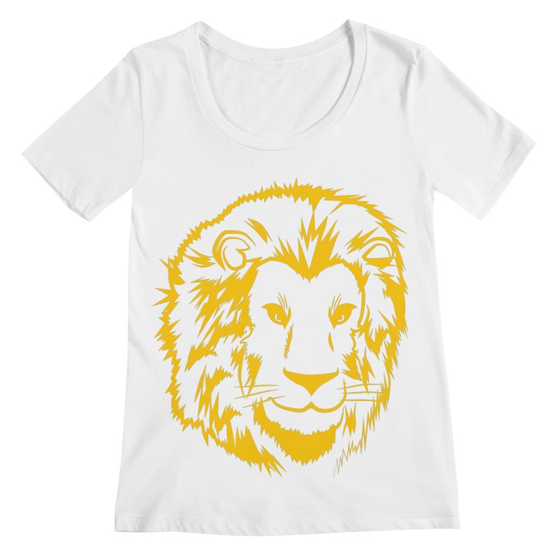 Yellow lion Women's Scoop Neck by Synner Design
