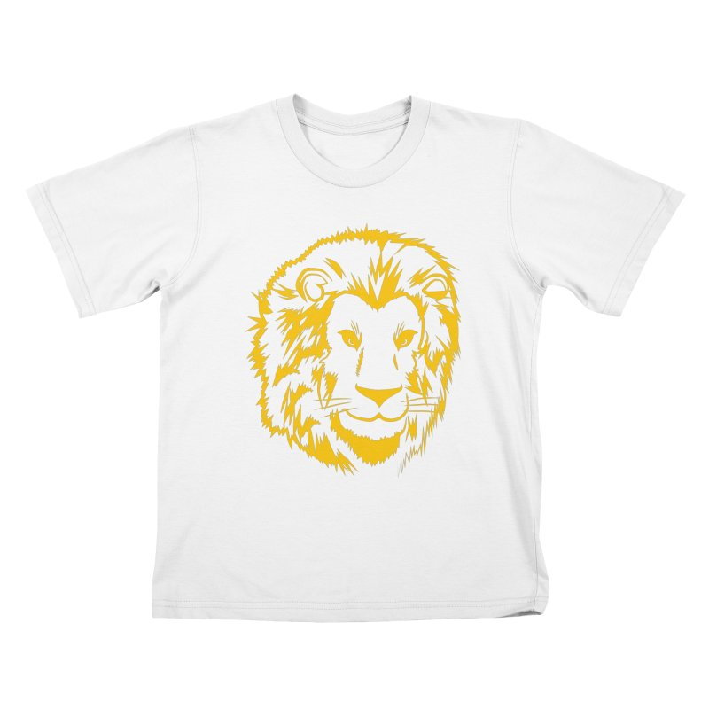 Yellow lion Kids T-Shirt by Synner Design