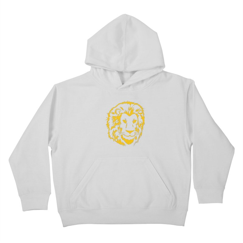 Yellow lion Kids Pullover Hoody by Synner Design