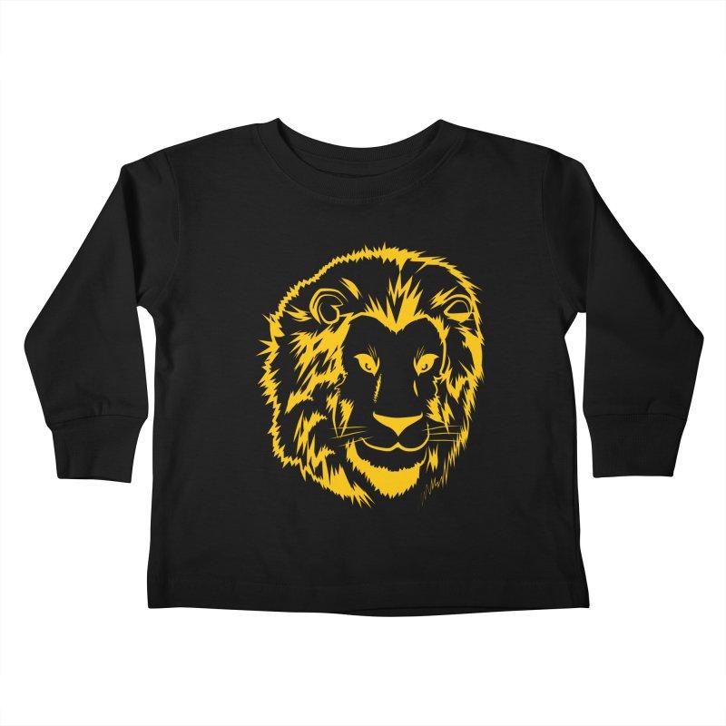 Yellow lion Kids Toddler Longsleeve T-Shirt by Synner Design
