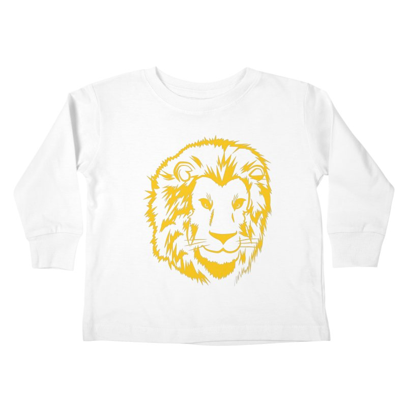 Yellow lion Kids Toddler Longsleeve T-Shirt by Synner Design
