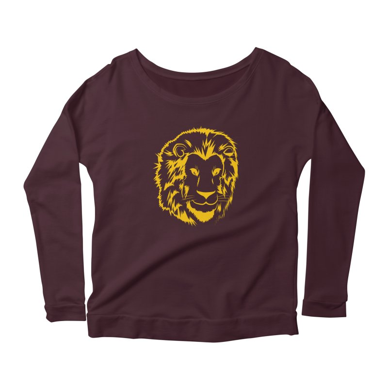 Yellow lion Women's Longsleeve T-Shirt by Synner Design