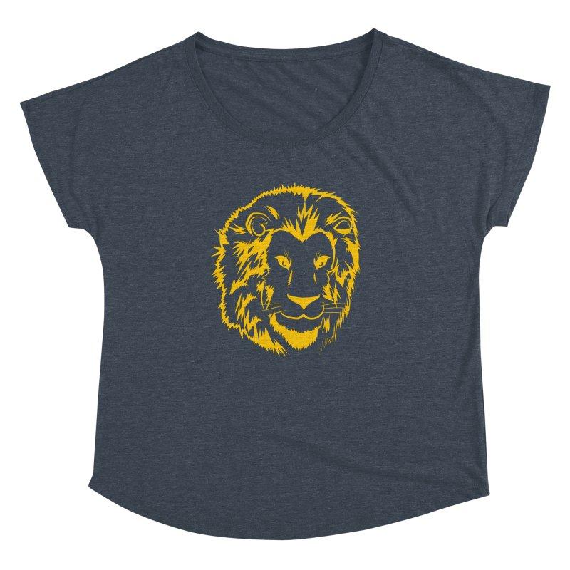 Yellow lion Women's Dolman by Synner Design