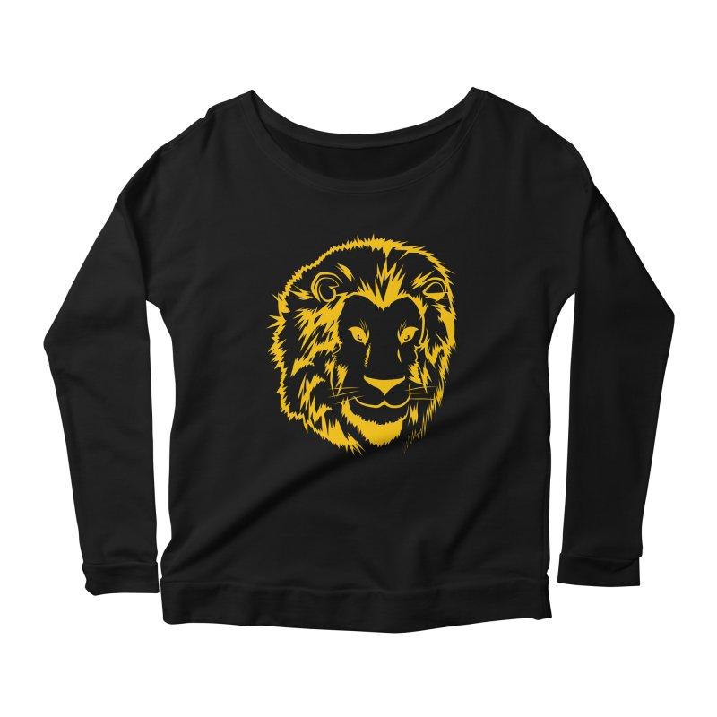 Yellow lion Women's Scoop Neck Longsleeve T-Shirt by Synner Design