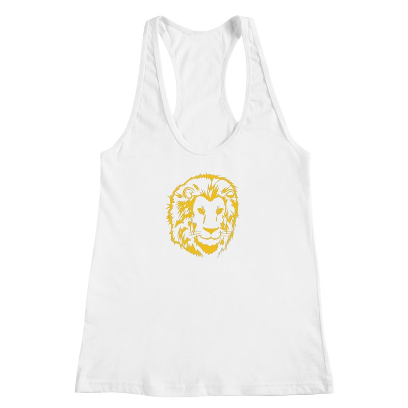 Yellow lion Women's Racerback Tank by Synner Design