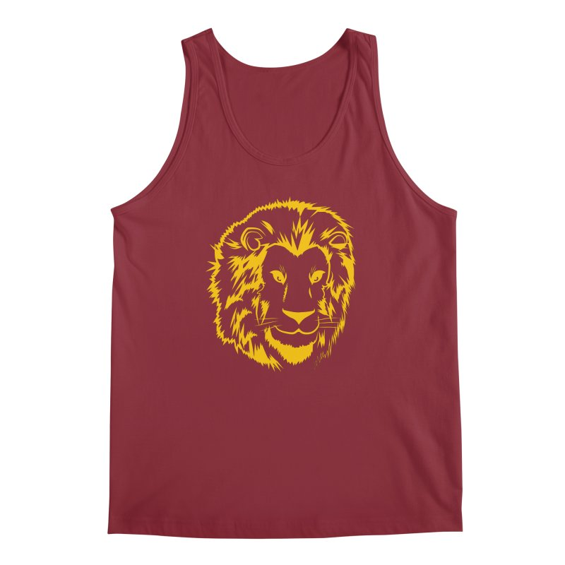 Yellow lion Men's Tank by Synner Design