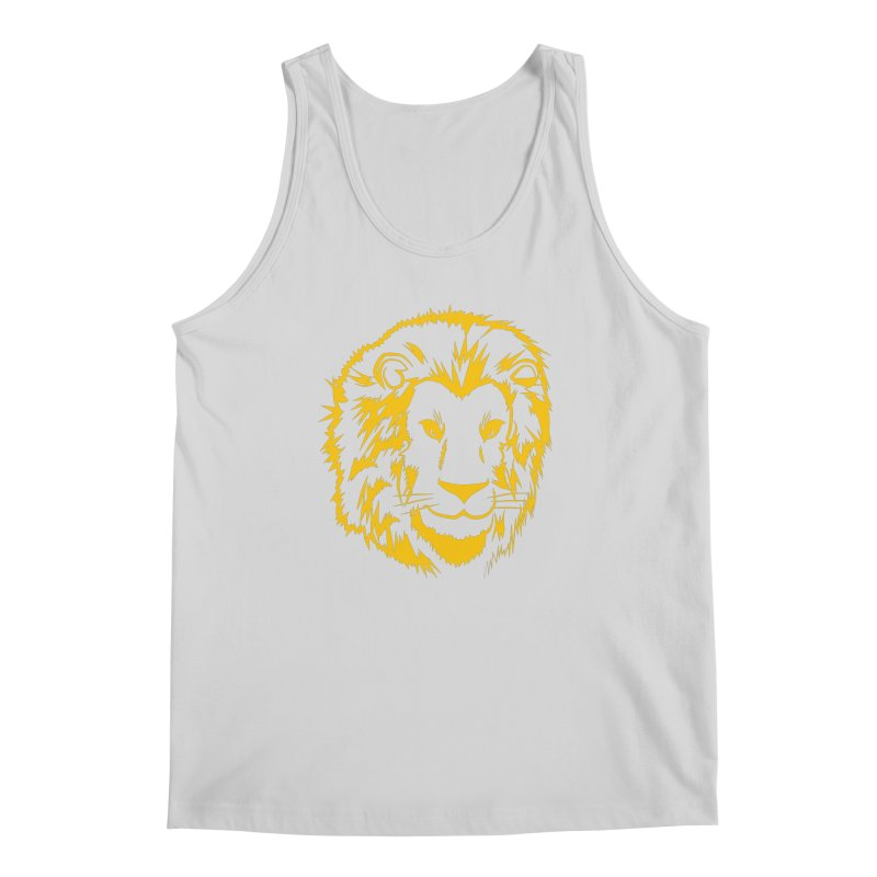 Yellow lion Men's Regular Tank by Synner Design