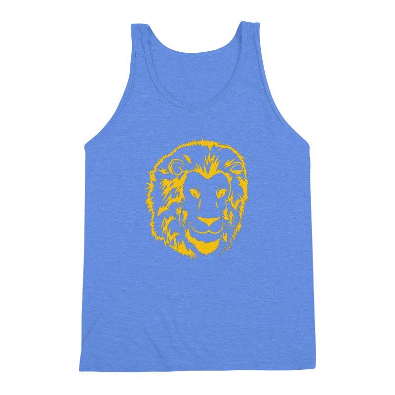Yellow lion Men's Triblend Tank by Synner Design