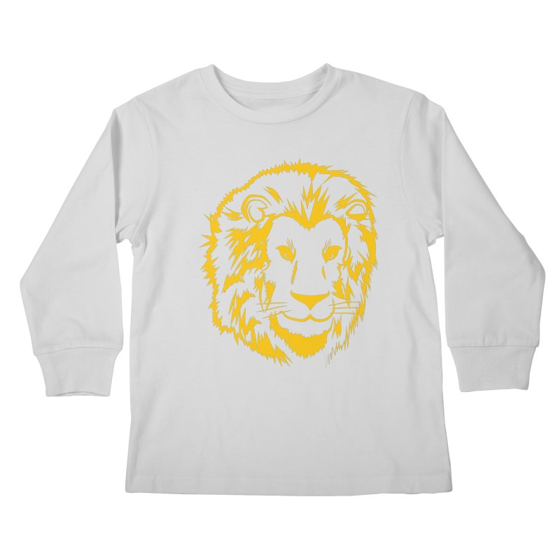 Yellow lion Kids Longsleeve T-Shirt by Synner Design