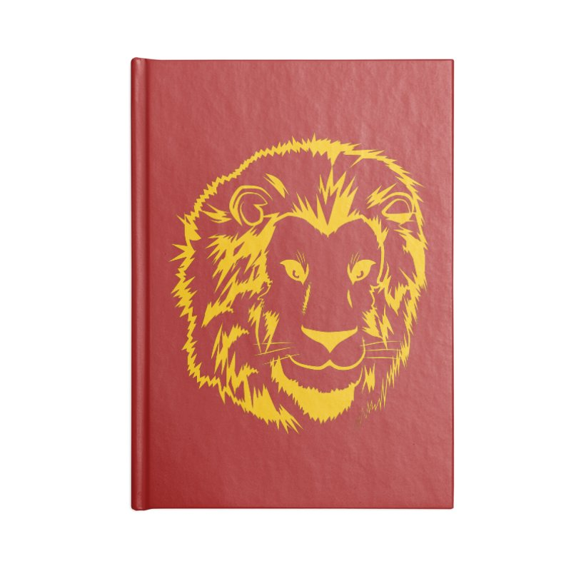 Yellow lion Accessories Notebook by Synner Design