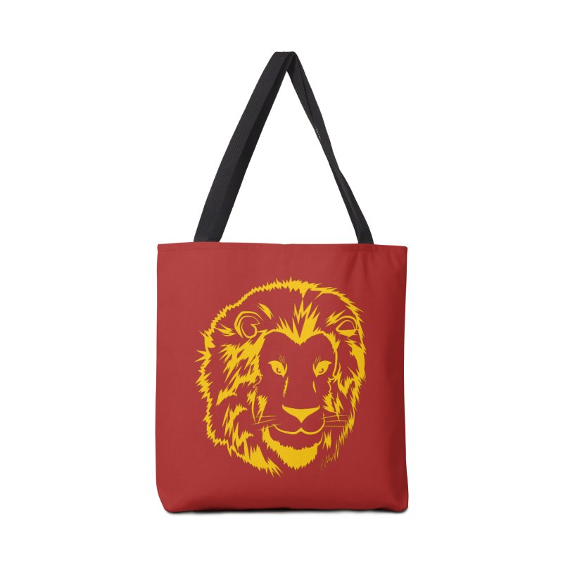 Yellow lion Accessories Bag by Synner Design