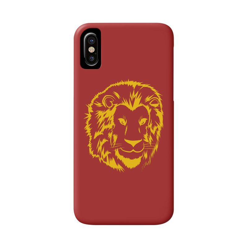 Yellow lion Accessories Phone Case by Synner Design