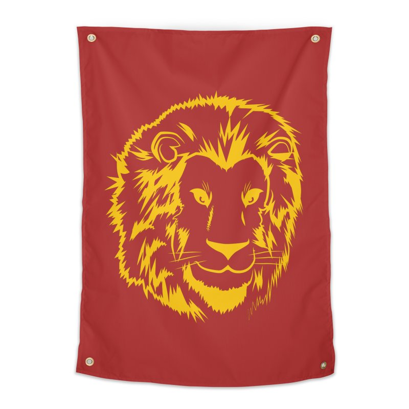 Yellow lion Home Tapestry by Synner Design