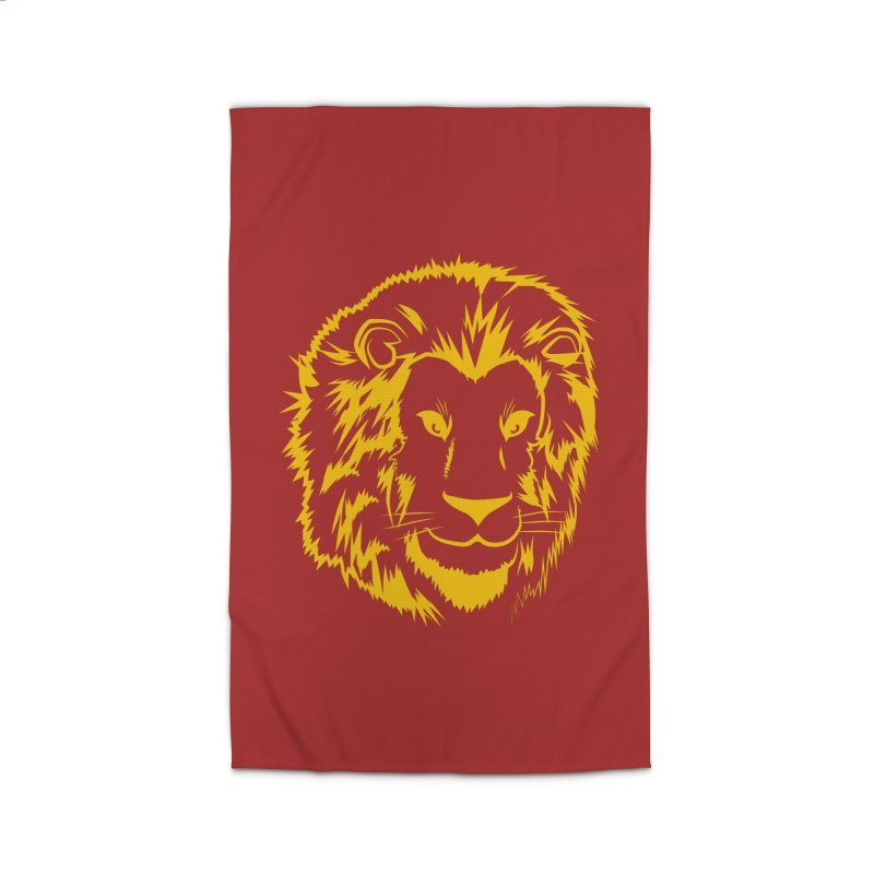 Yellow lion Home Rug by Synner Design