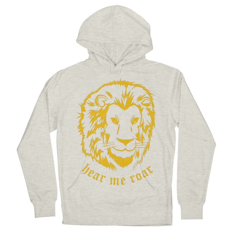 Yellow lion Women's Pullover Hoody by Synner Design