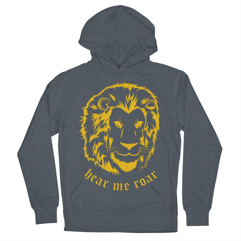 Yellow lion Men's Pullover Hoody by Synner Design