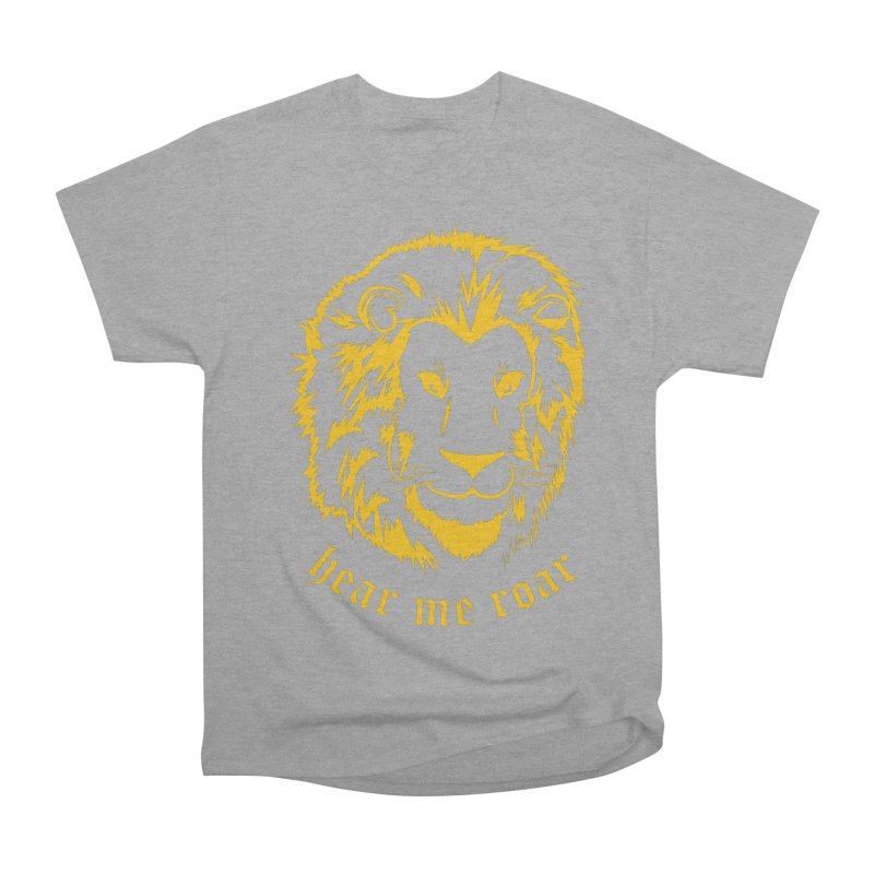Yellow lion Women's Classic Unisex T-Shirt by Synner Design