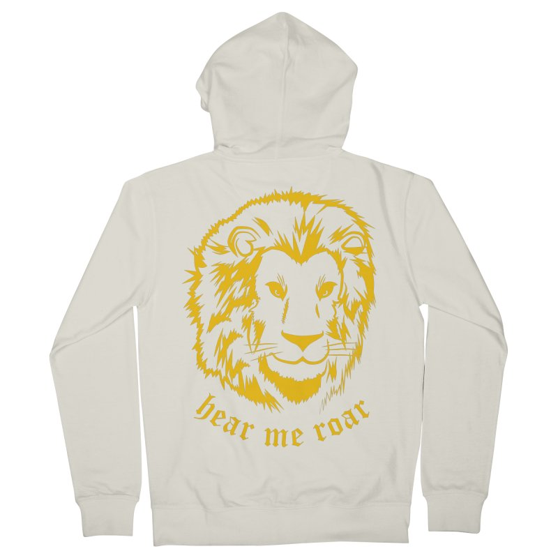 Yellow lion Women's Zip-Up Hoody by Synner Design