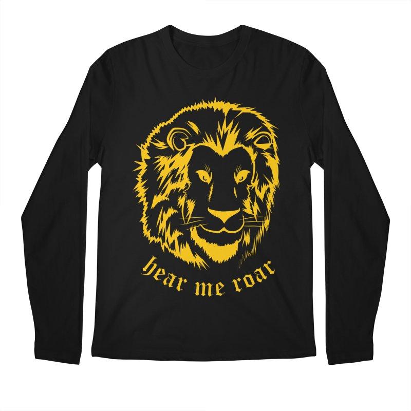 Yellow lion Men's Longsleeve T-Shirt by Synner Design