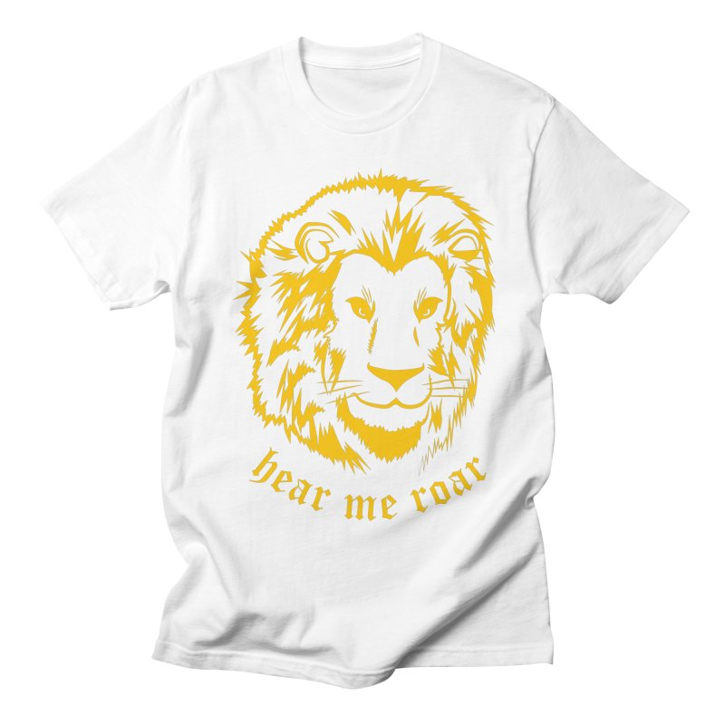 Yellow lion Women's Unisex T-Shirt by Synner Design