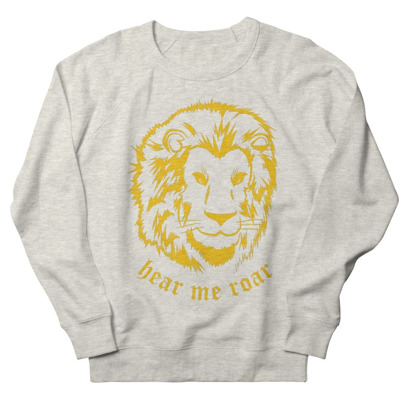 Yellow lion Men's Sweatshirt by Synner Design