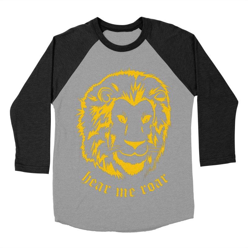 Yellow lion Women's Baseball Triblend T-Shirt by Synner Design