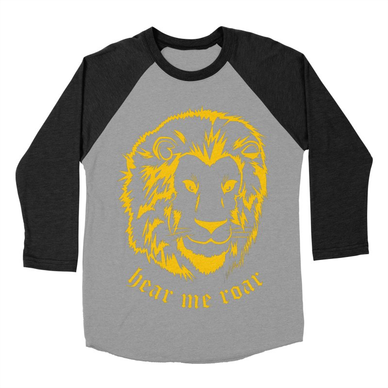 Yellow lion Men's Baseball Triblend T-Shirt by Synner Design