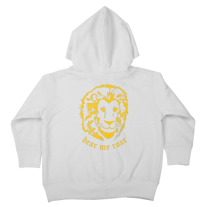 Yellow lion Kids Toddler Zip-Up Hoody by Synner Design