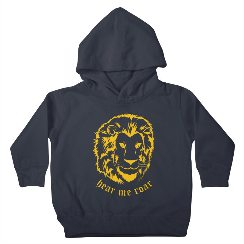 Yellow lion Kids Toddler Pullover Hoody by Synner Design