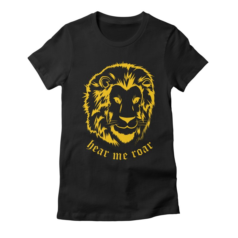 Yellow lion Women's Fitted T-Shirt by Synner Design