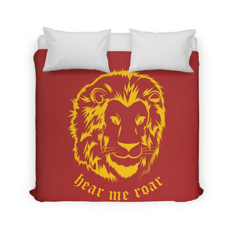 Yellow lion Home Duvet by Synner Design