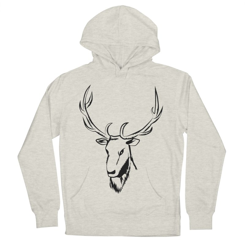 Deer Fury Men's French Terry Pullover Hoody by Synner Design