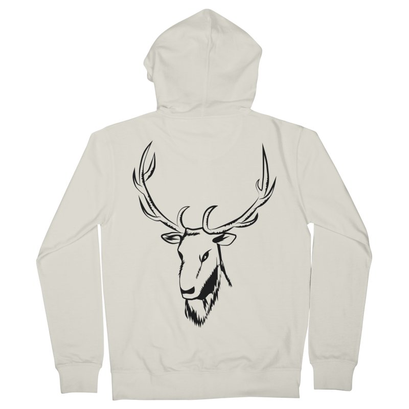 Deer Fury Women's French Terry Zip-Up Hoody by Synner Design
