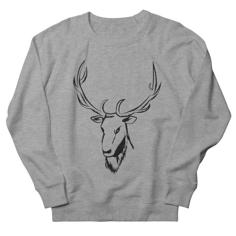 Deer Fury Women's French Terry Sweatshirt by Synner Design