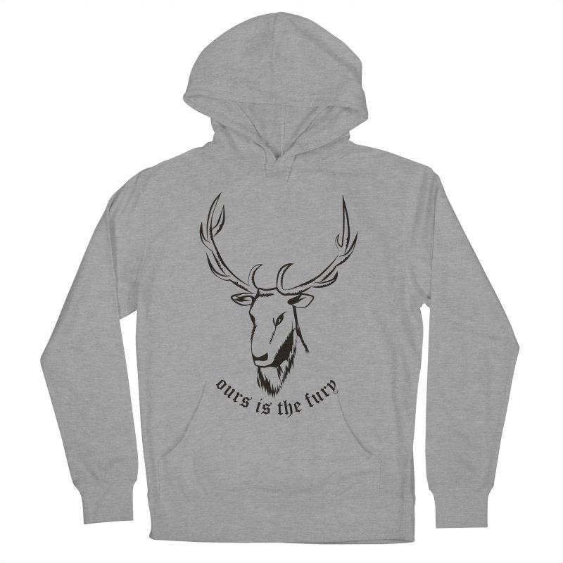 Deer Fury Men's Pullover Hoody by Synner Design