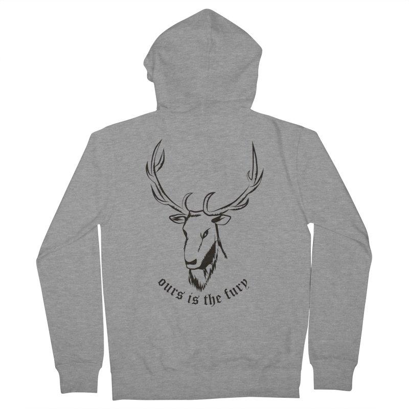 Deer Fury Women's Zip-Up Hoody by Synner Design