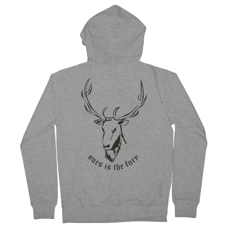 Deer Fury Men's Zip-Up Hoody by Synner Design