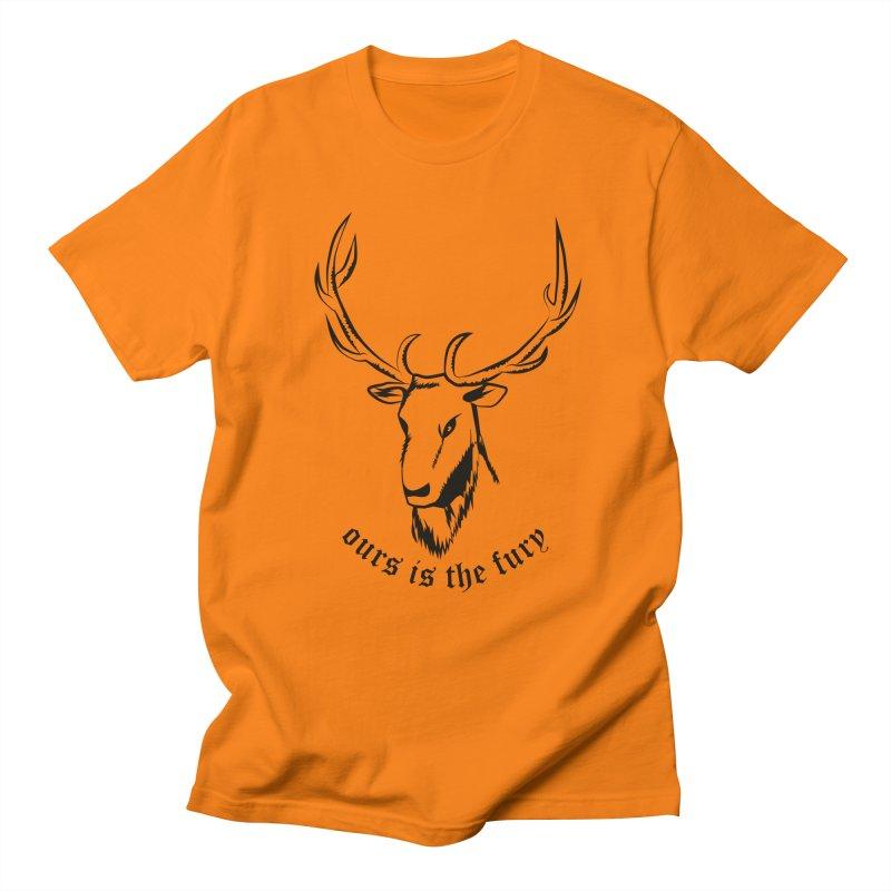 Deer Fury Men's T-shirt by Synner Design