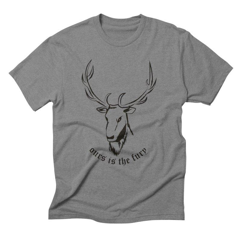 Deer Fury Men's Triblend T-Shirt by Synner Design