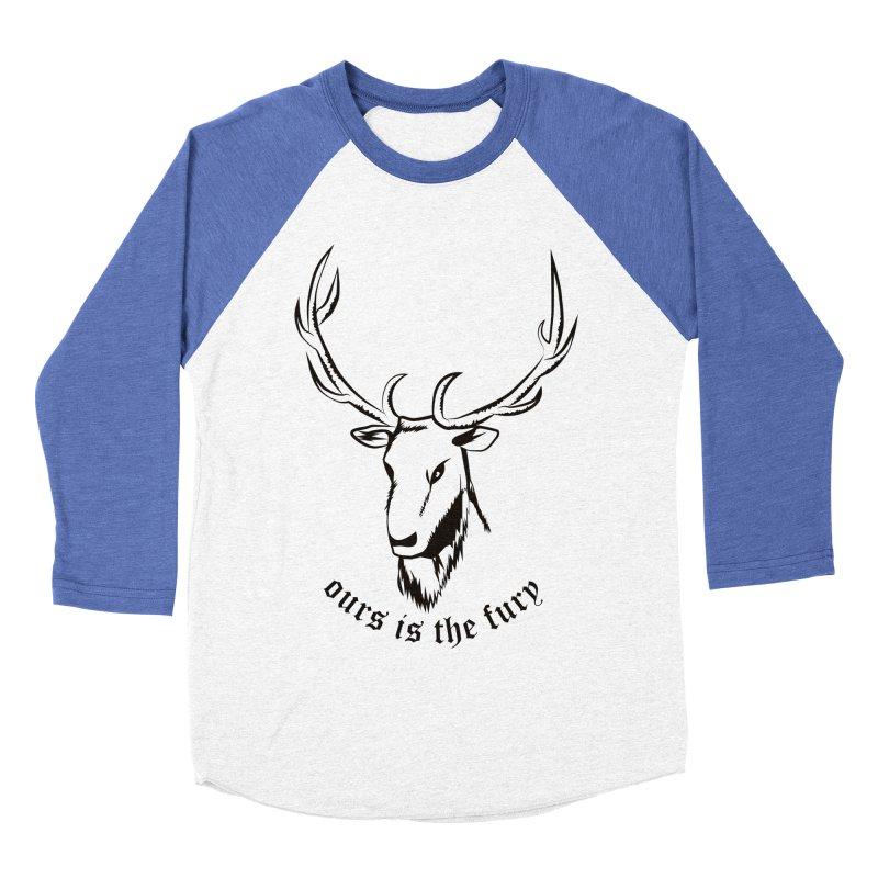 Deer Fury Women's Baseball Triblend T-Shirt by Synner Design