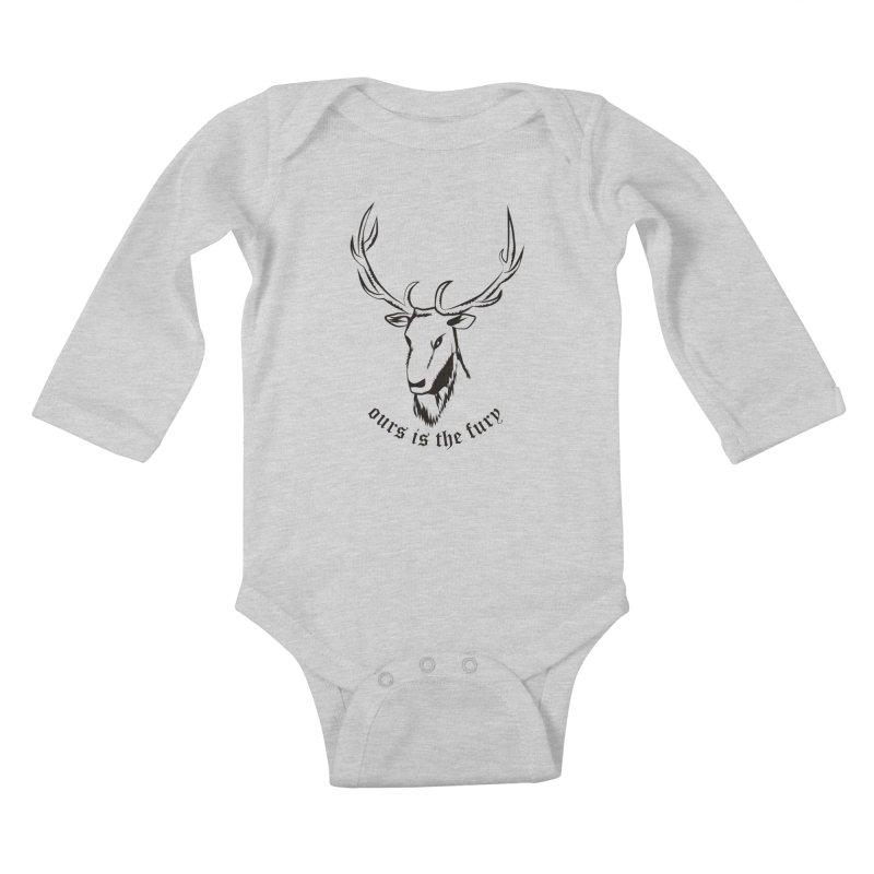 Deer Fury Kids Baby Longsleeve Bodysuit by Synner Design